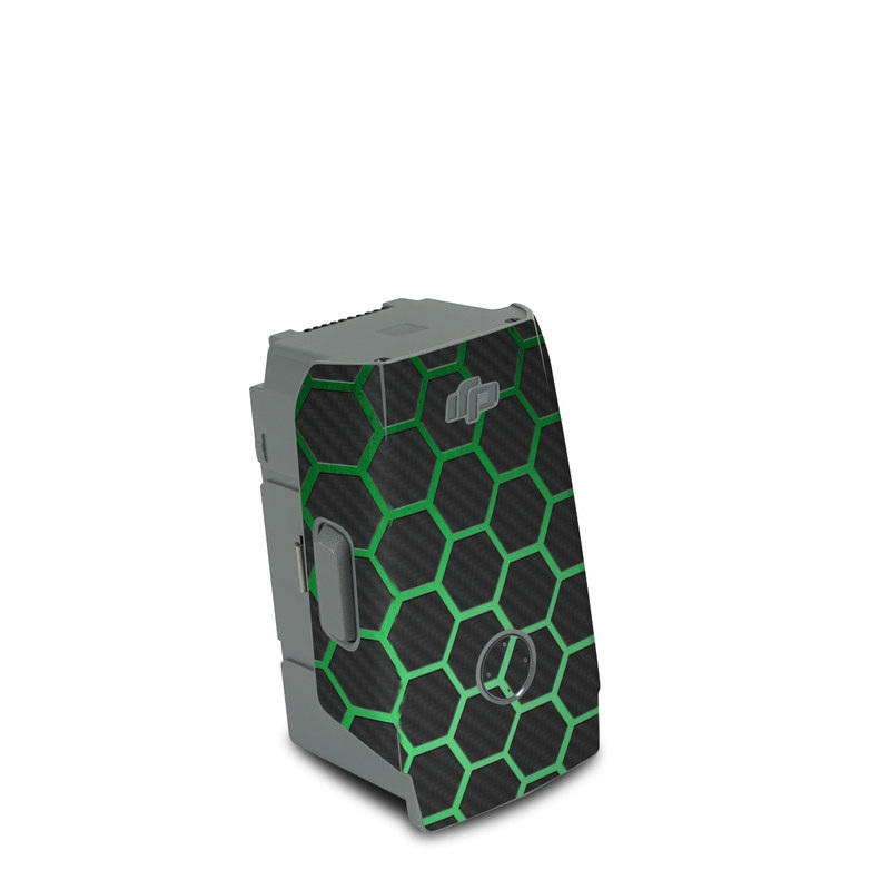 DJI Air 2S Battery Skin design of Pattern, Metal, Design, Carbon, Space, Circle with black, gray, green colors