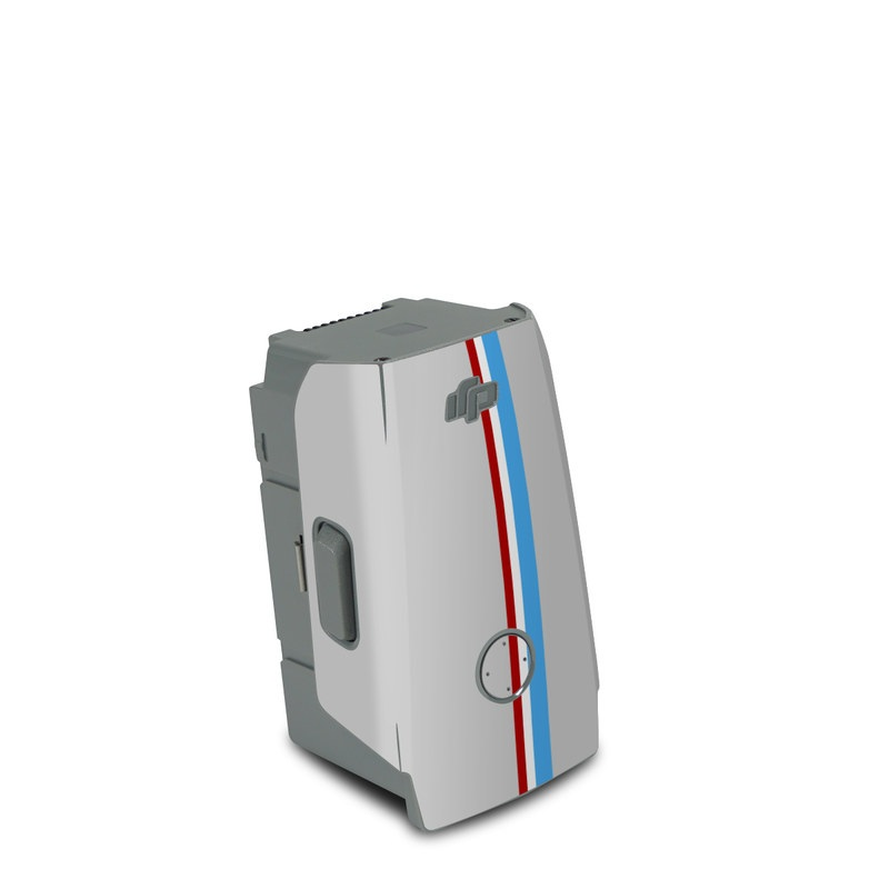 DJI Air 2S Battery Skin design of Line, Sign, Games with gray, blue, red, white, black colors
