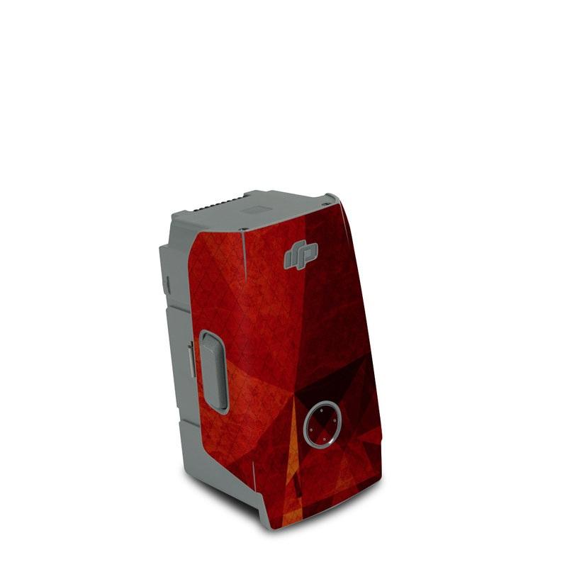 DJI Air 2S Battery Skin design of Orange, Red, Yellow, Triangle, Pattern, Amber, Design, Art, Visual arts, Modern art with black, orange, yellow colors
