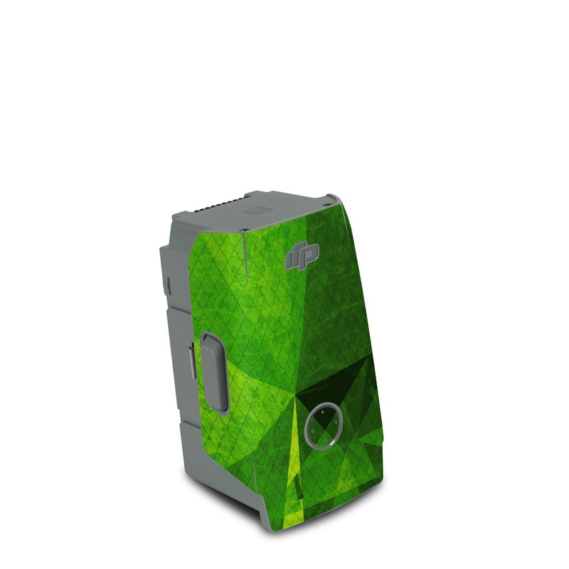 DJI Air 2S Battery Skin design of Green, Pattern, Leaf, Design, Illustration with green colors
