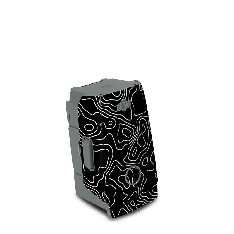 DJI Air 2S Battery Skin design of Art, Motif, Pattern, Symmetry, Monochrome, Circle, Font, Visual arts, Illustration, Monochrome photography with black, gray colors