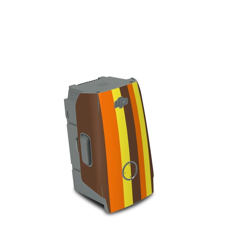 DJI Air 2S Battery Skin design of Orange, Yellow, Line, Brown, Font, Material property, Graphic design, Pattern, Parallel with brown, orange, yellow colors