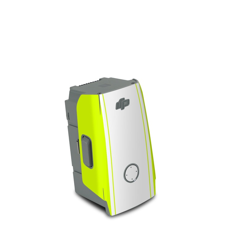 DJI Air 2S Battery Skin design of Yellow, Line, Font, Military rank with white, green, red, yellow colors
