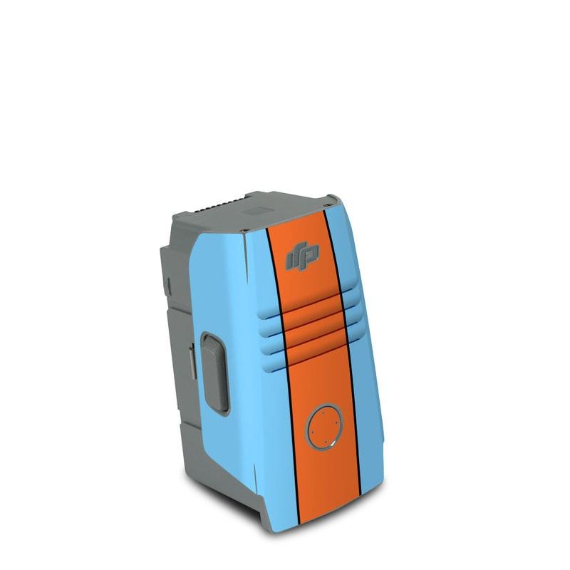 DJI Air 2S Battery Skin design of Line with blue, orange, black colors
