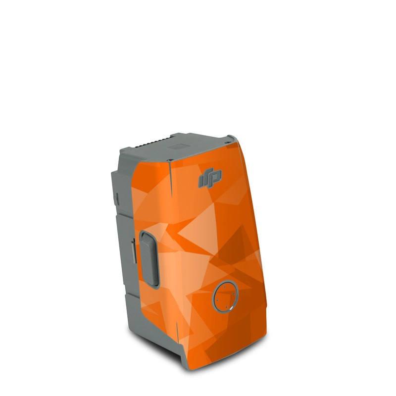 DJI Air 2S Battery Skin design of Orange, Pattern, Peach, Line, Design, Triangle with orange colors