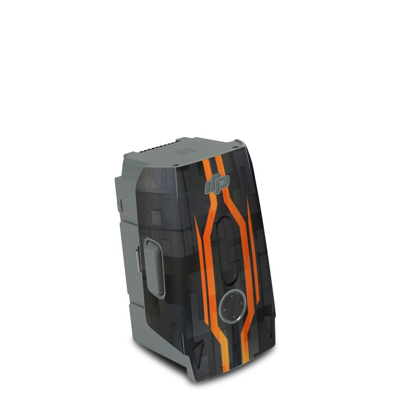 DJI Air 2S Battery Skin design with black, gray, orange colors