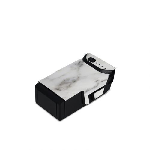 White Marble DJI Mavic Air Battery Skin