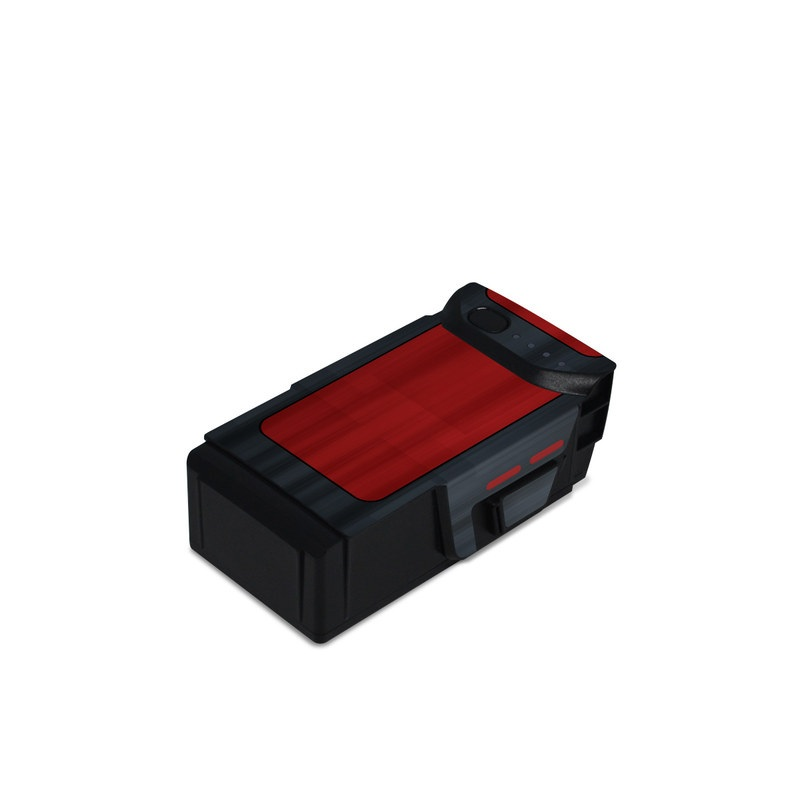 DJI Mavic Air Battery Skin design with black, red, gray colors