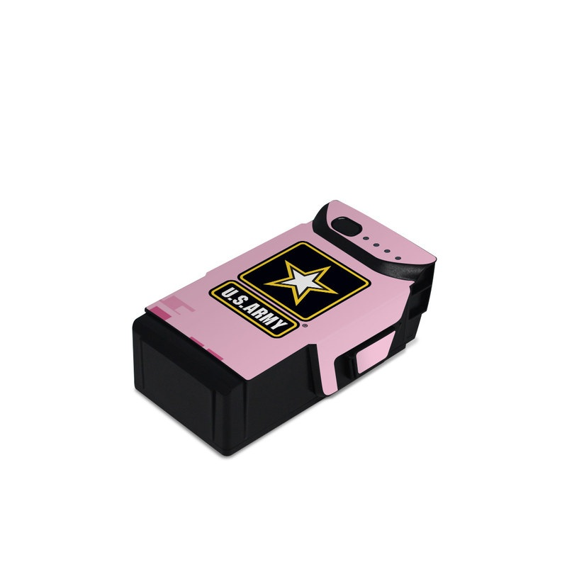 DJI Mavic Air Battery Skin design of Logo, Font, Magenta, Illustration, Graphics, Emblem, Symbol, Graphic design, Icon, Brand with pink, black, yellow, white colors