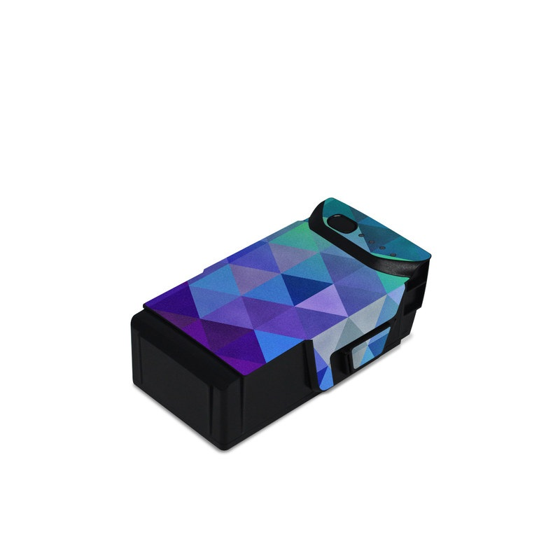 DJI Mavic Air Battery Skin design of Purple, Violet, Pattern, Blue, Magenta, Triangle, Line, Design, Graphic design, Symmetry with blue, purple, green, red, pink colors