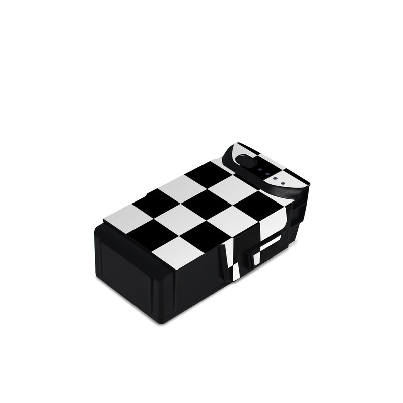DJI Mavic Air Battery Skin design of Black, Photograph, Games, Pattern, Indoor games and sports, Black-and-white, Line, Design, Recreation, Square with black, white colors