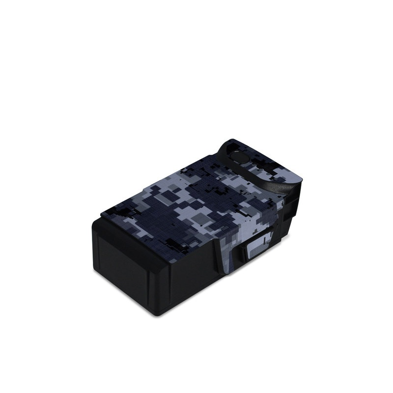 DJI Mavic Air Battery Skin design of Military camouflage, Black, Pattern, Blue, Camouflage, Design, Uniform, Textile, Black-and-white, Space with black, gray, blue colors
