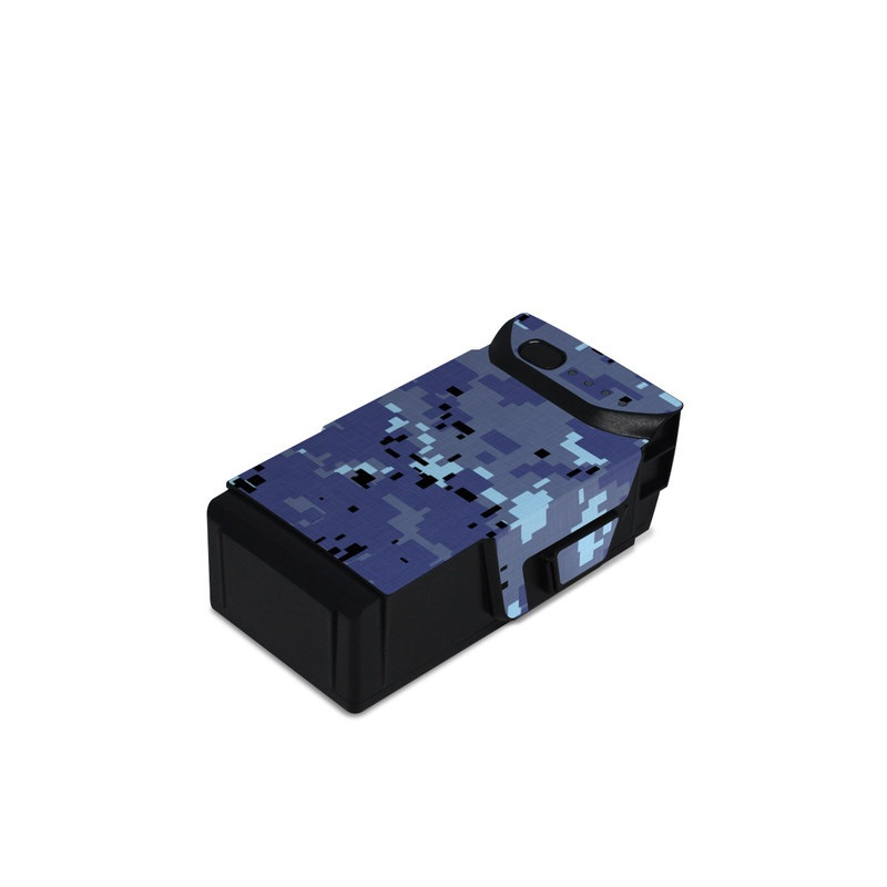 DJI Mavic Air Battery Skin design of Blue, Purple, Pattern, Lavender, Violet, Design with blue, gray, black colors