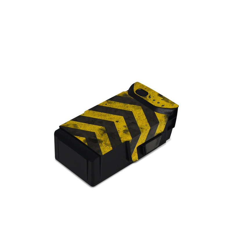 DJI Mavic Air Battery Skin design of Colorfulness, Road surface, Yellow, Rectangle, Asphalt, Font, Material property, Parallel, Tar, Tints and shades with black, gray, yellow colors