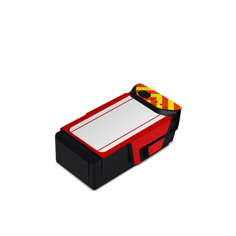 DJI Mavic Air Battery Skin design with white, yellow, orange, red colors