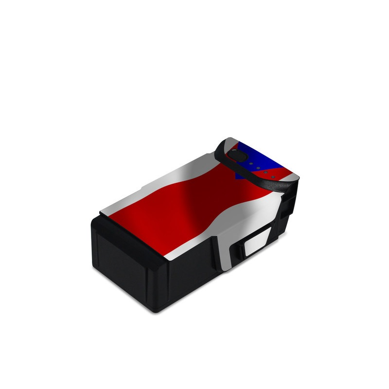 DJI Mavic Air Battery Skin design of Flag, Flag of the united states, Flag Day (USA), Veterans day, Independence day with red, blue, white colors