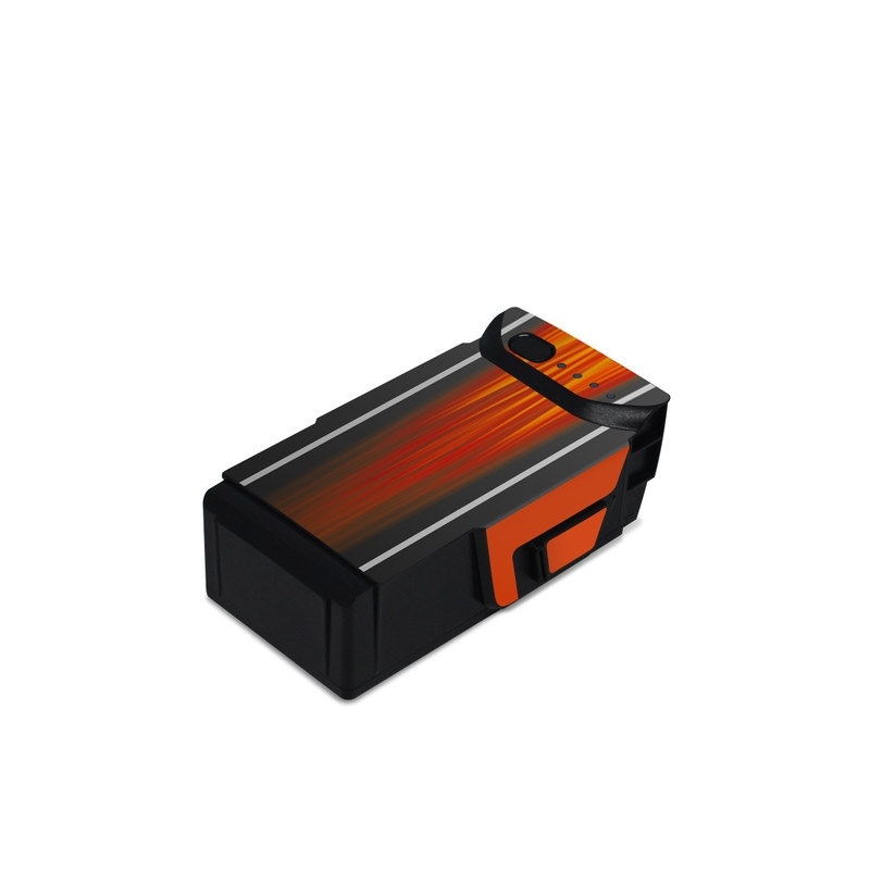 DJI Mavic Air Battery Skin design of Orange, Red, Line, Material property, Rectangle, Automotive lighting with red, black, orange, gray colors