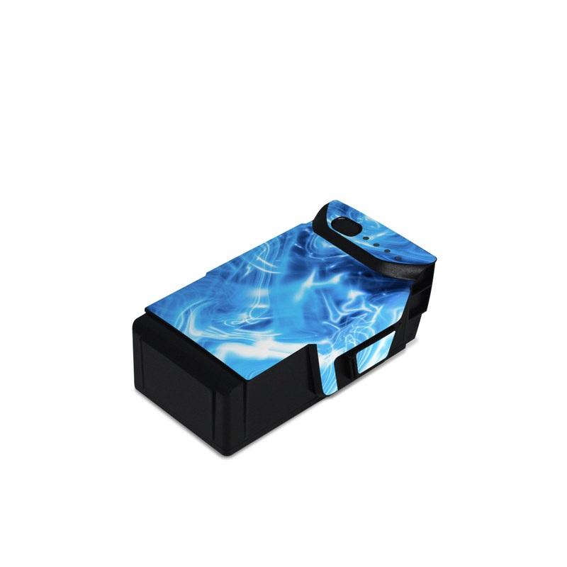 DJI Mavic Air Battery Skin design of Blue, Water, Electric blue, Organism, Pattern, Smoke, Liquid, Art with blue, black, purple colors