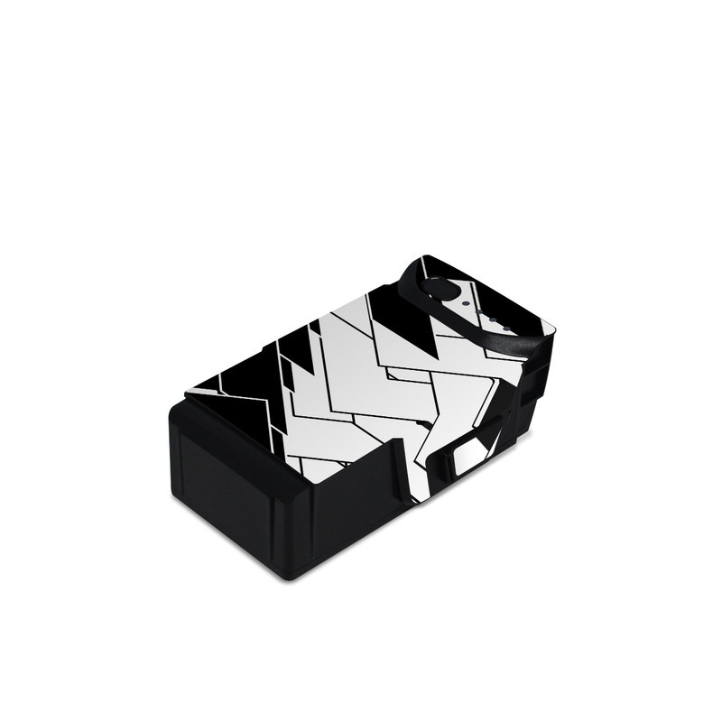DJI Mavic Air Battery Skin design of Pattern, Black, Black-and-white, Monochrome, Monochrome photography, Line, Design, Parallel, Font with black, white colors