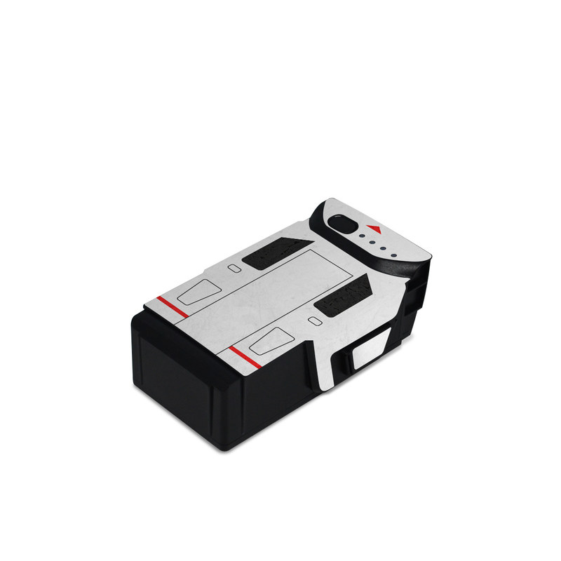 DJI Mavic Air Battery Skin design with white, red, blue colors