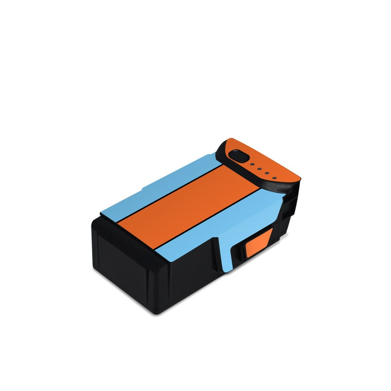 DJI Mavic Air Battery Skin design with blue, orange colors