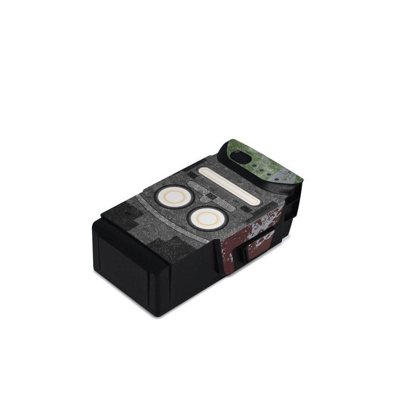 DJI Mavic Air Battery Skin design with red, green, gray colors
