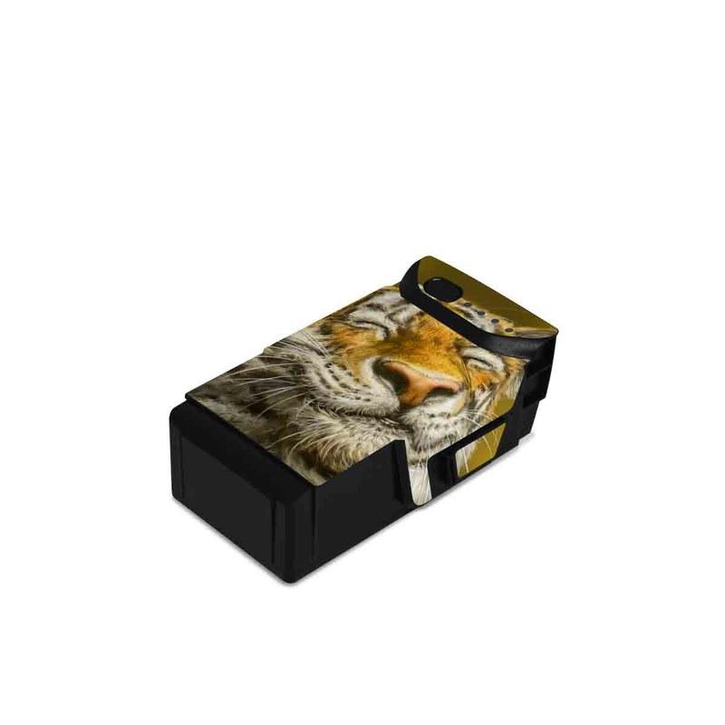 DJI Mavic Air Battery Skin design of Tiger, Vertebrate, Bengal tiger, Mammal, Wildlife, Siberian tiger, Terrestrial animal, Felidae, Snout, Whiskers with black, white, orange, yellow colors