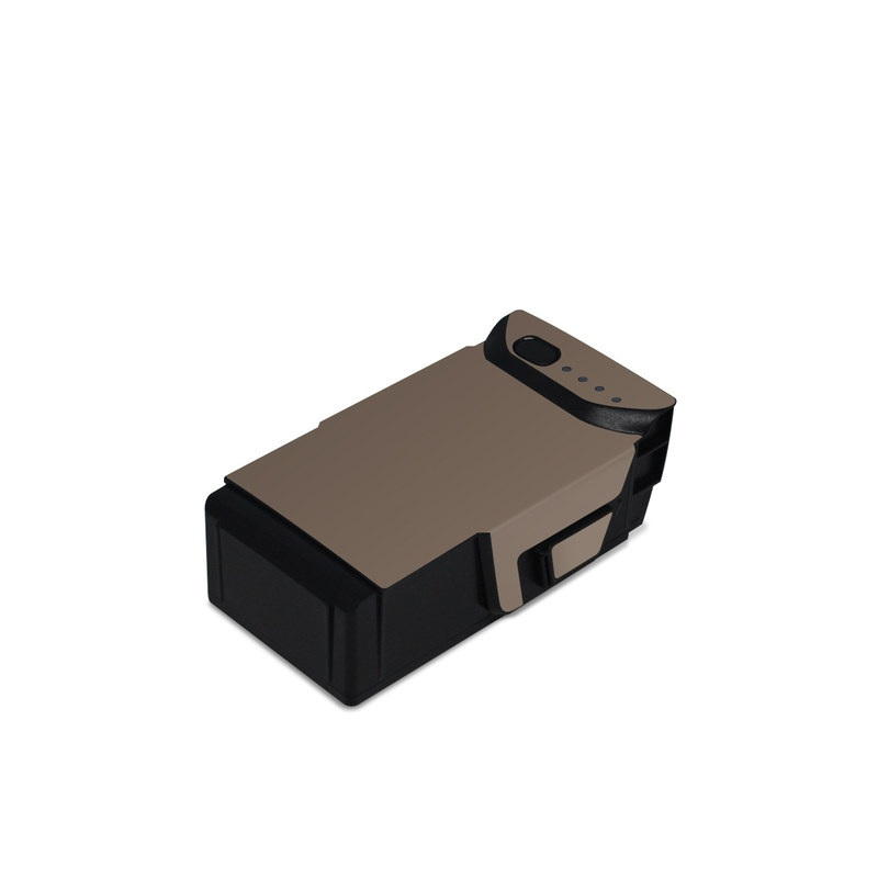 DJI Mavic Air Battery Skin design of Brown, Text, Beige, Material property, Font with brown colors