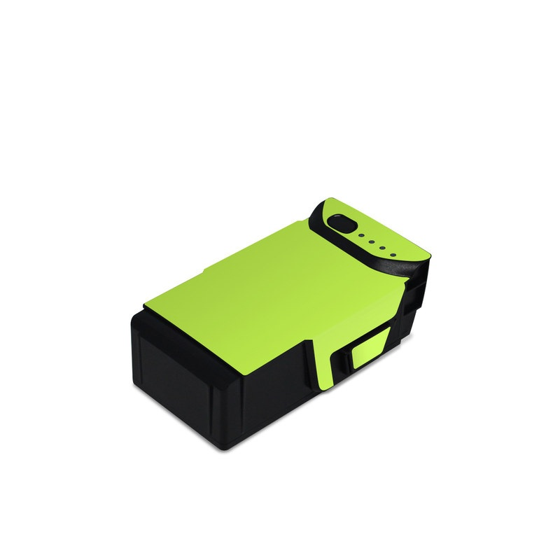 DJI Mavic Air Battery Skin design of Green, Yellow, Text, Leaf, Font, Grass with green colors