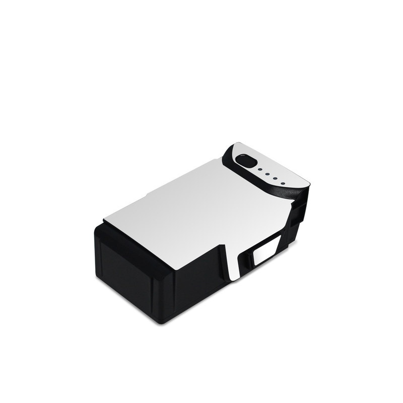 DJI Mavic Air Battery Skin design of White, Black, Line with white colors