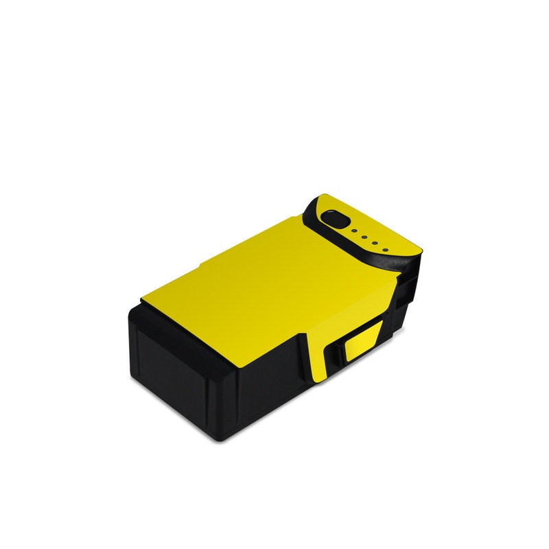 DJI Mavic Air Battery Skin design of Green, Yellow, Orange, Text, Font with yellow colors