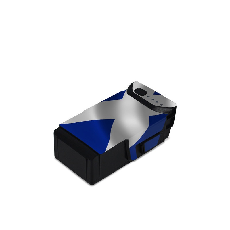 DJI Mavic Air Battery Skin design of Flag, Blue, Cobalt blue, Electric blue, Gesture, Flag of the united states with blue, gray, black, white colors