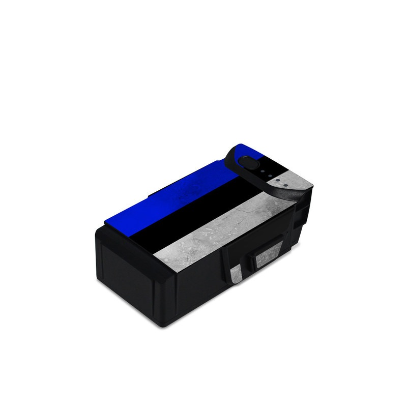DJI Mavic Air Battery Skin design of Line, Flag, Text, Flag of the united states, Font, Parallel, Symmetry, Black-and-white, Pattern, Graphics with black, white, gray, blue colors