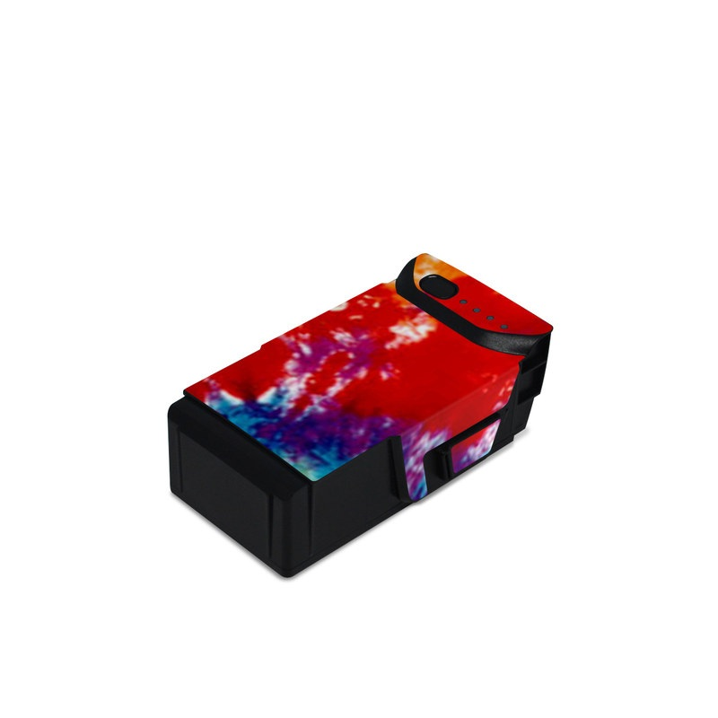 DJI Mavic Air Battery Skin design of Orange, Watercolor paint, Sky, Dye, Acrylic paint, Colorfulness, Geological phenomenon, Art, Painting, Organism with red, orange, blue, green, yellow, purple colors