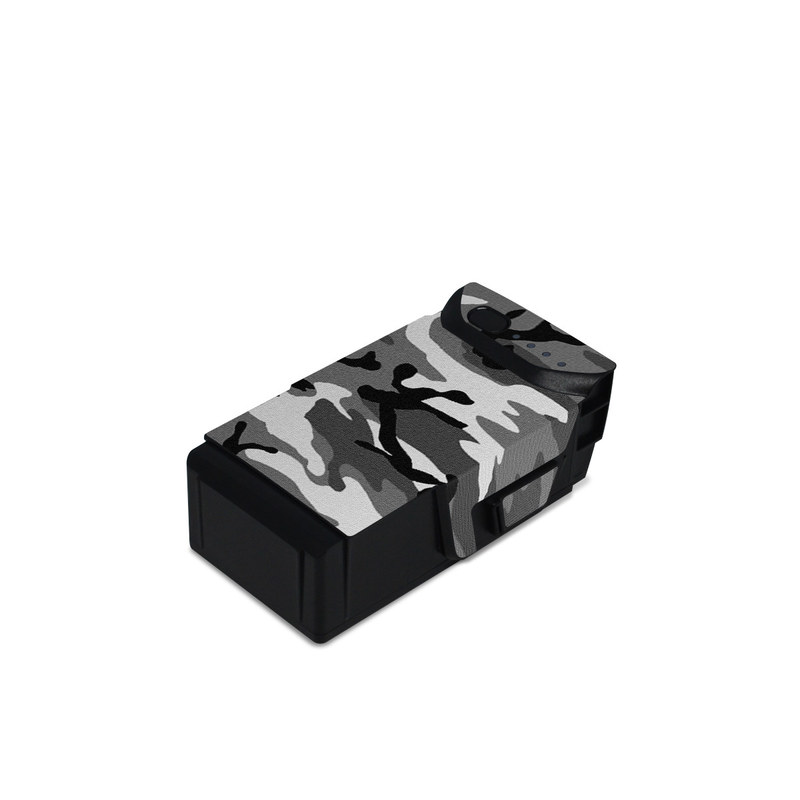 DJI Mavic Air Battery Skin design of Military camouflage, Pattern, Clothing, Camouflage, Uniform, Design, Textile with black, gray colors