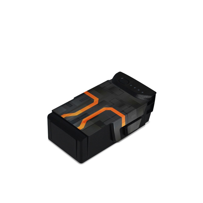 DJI Mavic Air Battery Skin design with black, gray, orange colors