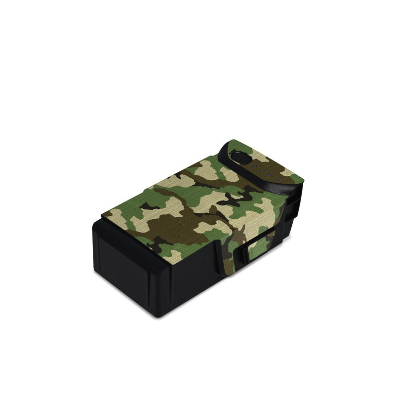 DJI Mavic Air Battery Skin design of Military camouflage, Camouflage, Clothing, Pattern, Green, Uniform, Military uniform, Design, Sportswear, Plane with black, gray, green colors
