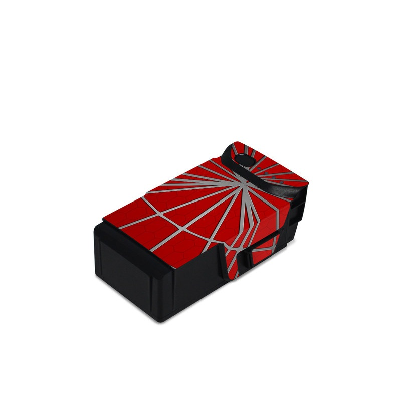 DJI Mavic Air Battery Skin design of Red, Symmetry, Circle, Pattern, Line with red, black, gray colors