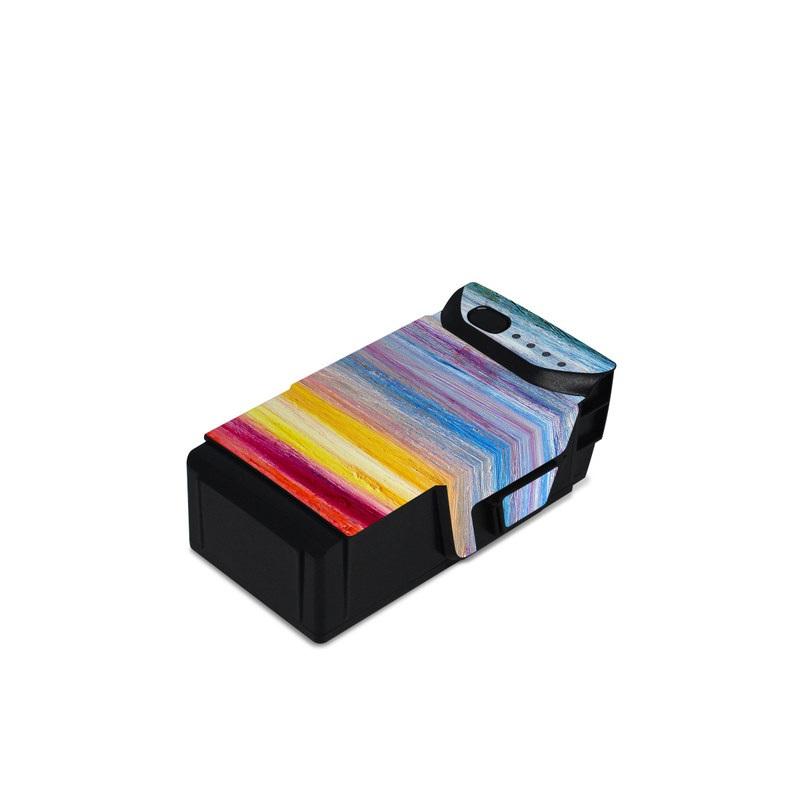 DJI Mavic Air Battery Skin design of Sky, Painting, Acrylic paint, Modern art, Watercolor paint, Art, Horizon, Paint, Visual arts, Wave with gray, blue, red, black, pink colors