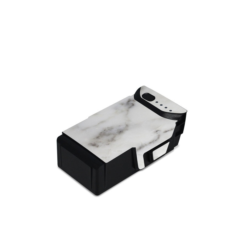 DJI Mavic Air Battery Skin design of White, Geological phenomenon, Marble, Black-and-white, Freezing with white, black, gray colors
