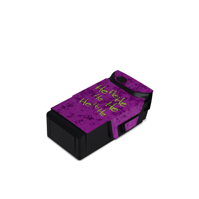 DJI Mavic Air Battery Skin design with green, purple, black colors