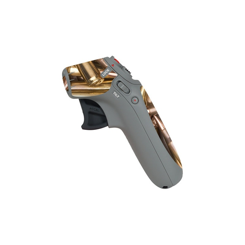 DJI Motion Controller Skin design of Ammunition, Metal, Bullet, Brass, Gun accessory, Steel with brown, yellow colors