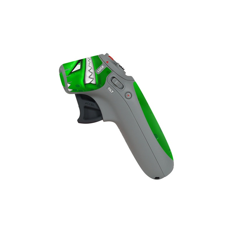 DJI Motion Controller Skin design of Green, Font, Animation, Logo, Graphics, Games with green, white colors