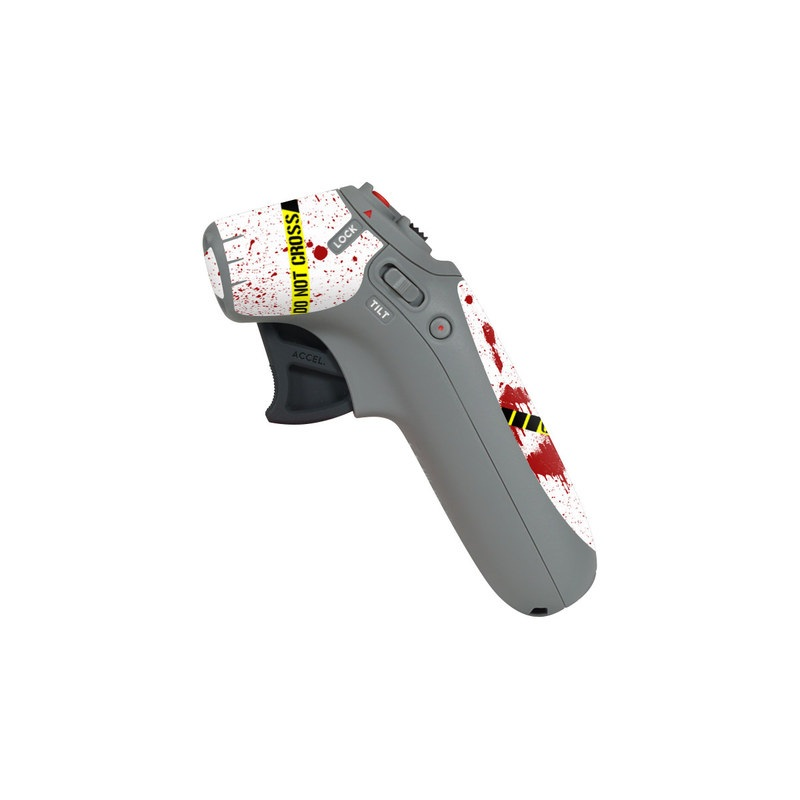 DJI Motion Controller Skin design of Text, Font, Red, Graphic design, Logo, Graphics, Brand, Banner with white, red, yellow, black colors