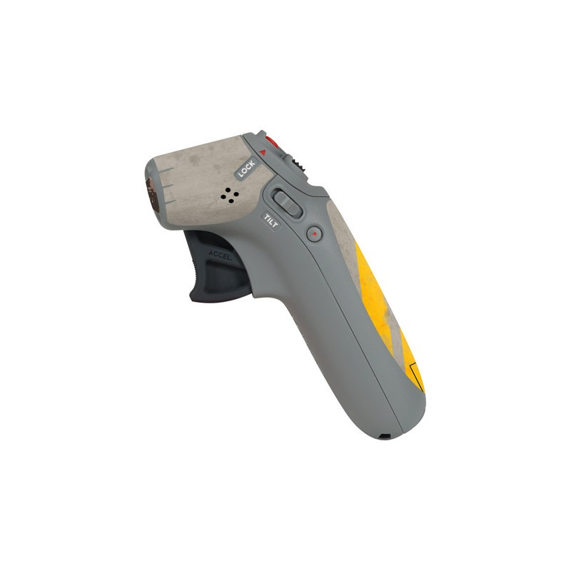 DJI Motion Controller Skin design of Yellow, Wall, Line, Orange, Design, Concrete, Font, Architecture, Parallel, Wood with gray, yellow, red, black colors