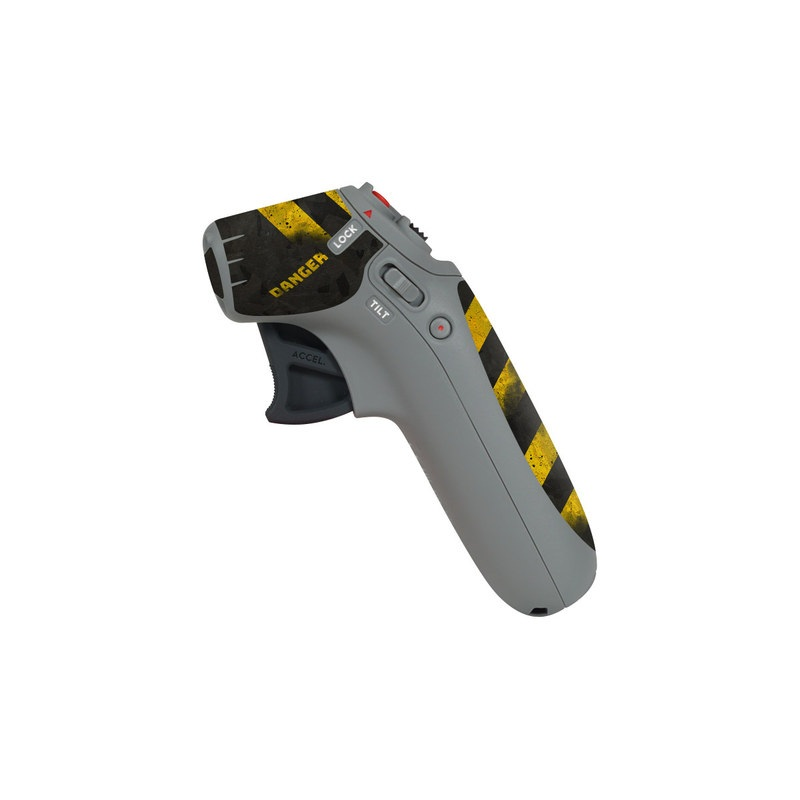 DJI Motion Controller Skin design of Colorfulness, Road surface, Yellow, Rectangle, Asphalt, Font, Material property, Parallel, Tar, Tints and shades with black, gray, yellow colors