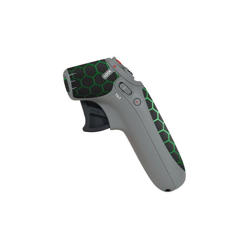 DJI Motion Controller Skin design of Pattern, Metal, Design, Carbon, Space, Circle with black, gray, green colors