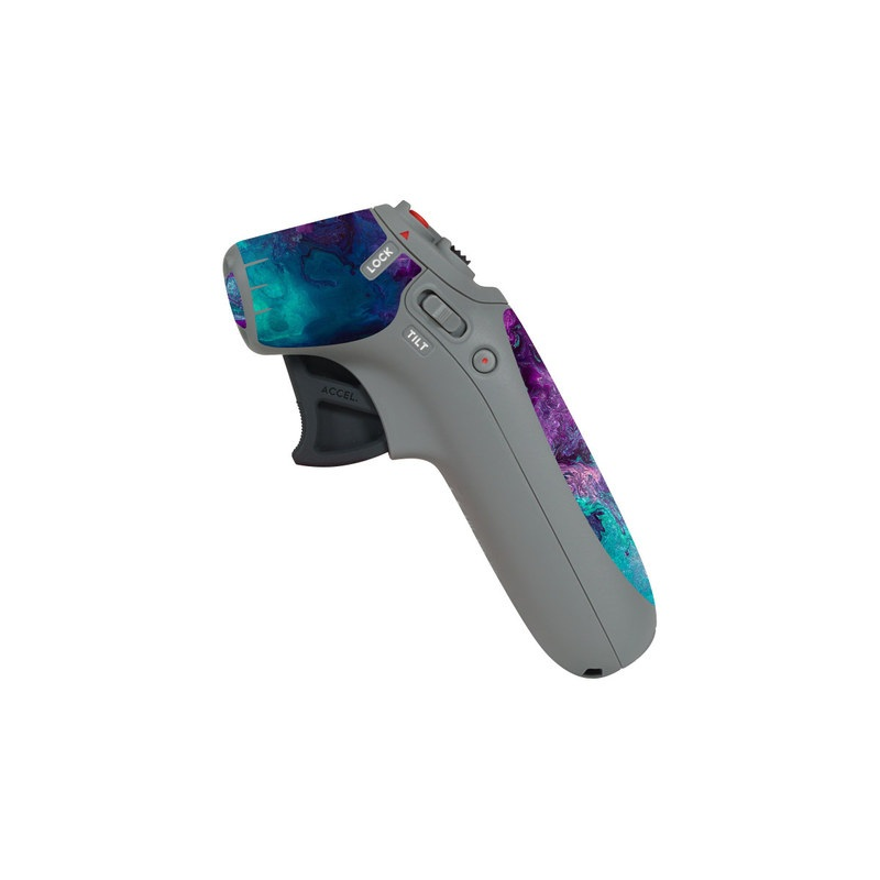 DJI Motion Controller Skin design of Blue, Purple, Violet, Water, Turquoise, Aqua, Pink, Magenta, Teal, Electric blue with blue, purple, black colors