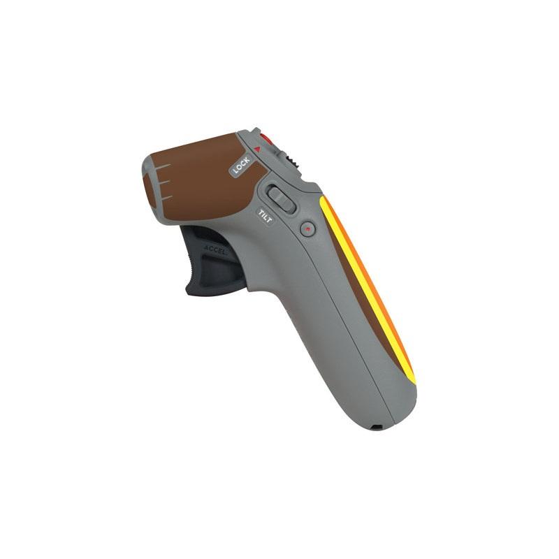 DJI Motion Controller Skin design of Orange, Yellow, Line, Brown, Font, Material property, Graphic design, Pattern, Parallel with brown, orange, yellow colors