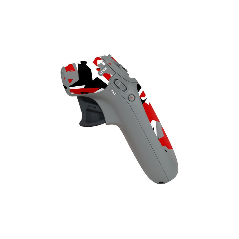 DJI Motion Controller Skin design of Red, Pattern, Font, Design, Textile, Carmine, Illustration, Flag, Crowd with red, white, black, gray colors